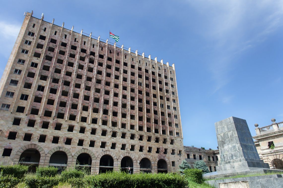 Ashes of Abkhazia Parliament Building // Abkhazia