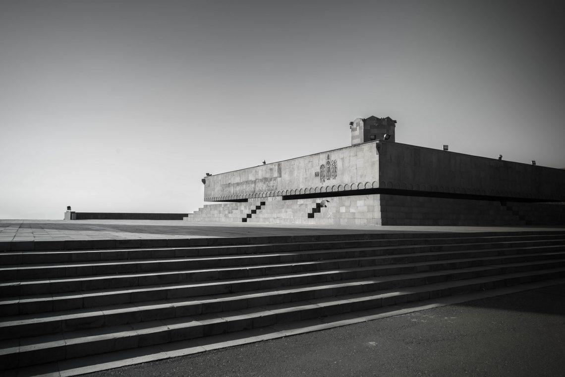 Brutal history : Monument to the 50th anniversary of Soviet Armenia // Armenia