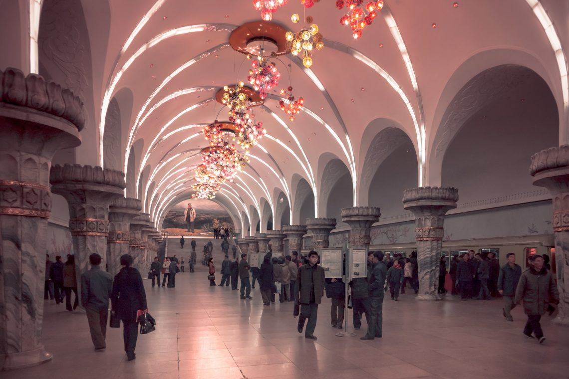 Pyongyang 's subway – Yonggwang Station // North Korea