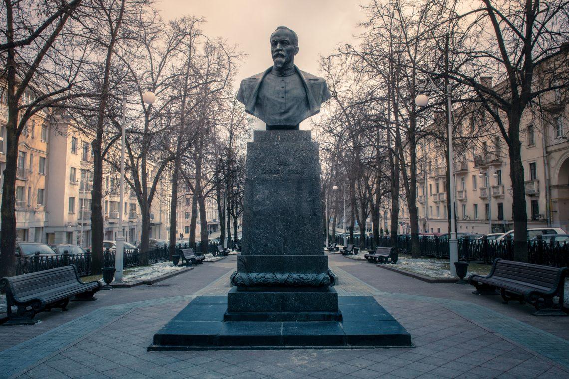 Statue of Cheka  founder Felix Dzerzhinsky // Minsk // Belarus