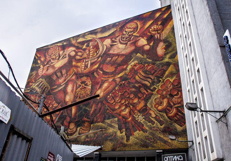 Soviet Mural in Minsk // Belarus
