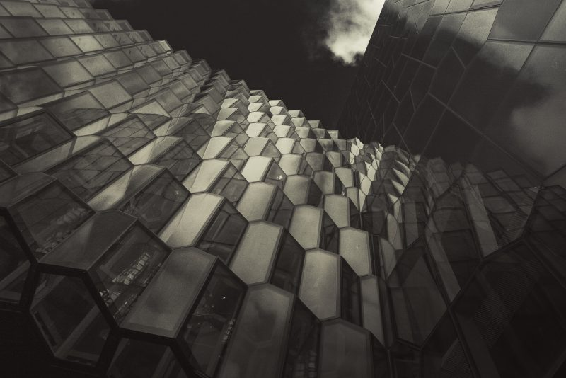 Black Honeycombs of the HARPA // Reyjavik // Iceland