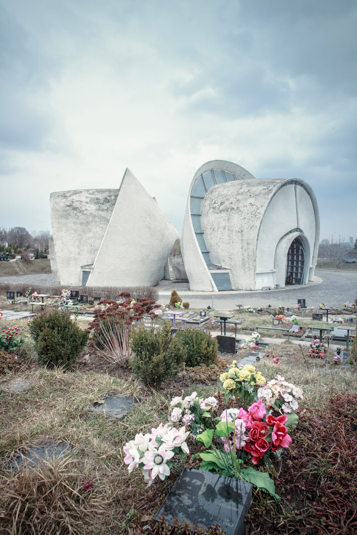 Kyiv crematorium by architect Abraham Miletskiy // Ukraine