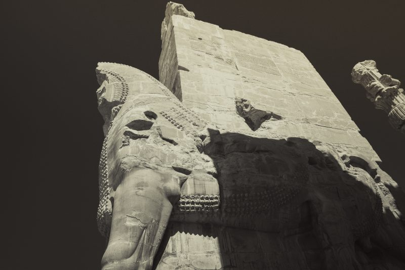 Shedu , the winged bulls of persian empire // Persepolis // Iran